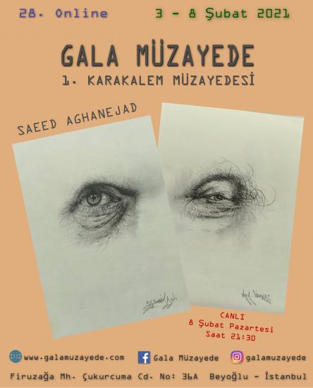 28. Online 1. Karakalem Müzayedesi / Saeed Aghanejad